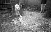 Simon on the garden swing