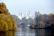 Whitehall across St James' Park lake