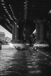 Underneath Cannon Street railway bridge