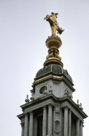 St Paul's Cross and top of the dome