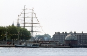 Cutty Sark and the foot tunnel