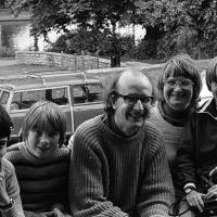 Bertrand (left) with the family