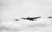 Lancaster bomber, Spitifire and Hurricane