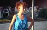 Redhead in blue top