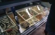 Bibione market - shellfish stall