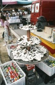 Bibione market - coconut fountain