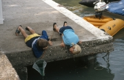 Children on the jetty