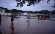 Floods in the campsite