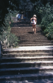 Steps to the restaurant