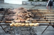 Beach barbecue spits