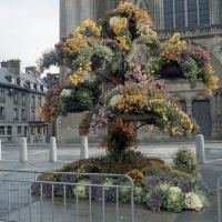 Floral decoration, Coutance Cathedral