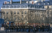 Band at Arc de Triomphe for a State Visit