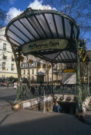 Guimard Metro Station entrance Abbesses with canpoy