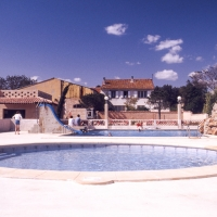 Swimming pool at the campsite
