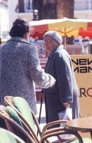 Old ladies conversing