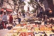 Fruit and vegetable stalls, Place de la Liberte