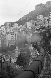 Railway climbing out of Monte Carlo