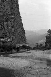 Rock and bridge