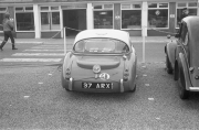 MG Roadster at the Air Bridge car park.
