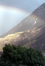 Rainbow over La Meije