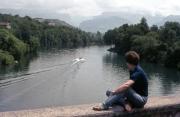 Greta and lake near the Vercors