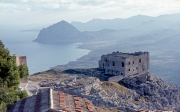 Old barracks and Monte Cofano from Erice