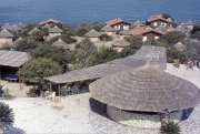The bar and huts