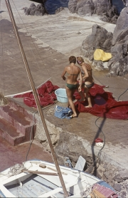 Small bikini on pontoon