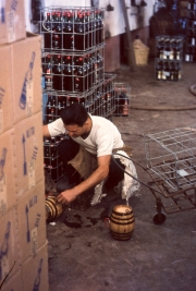 Filling the little barrels