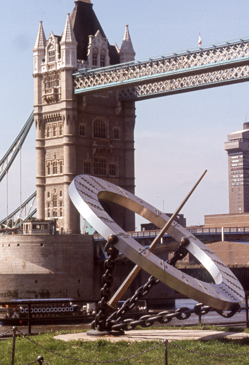 Tower Bridge and sculpture